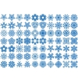 Set of 70 snowflakes vector image vector image