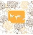 Beautiful card with clover flowers vector image