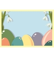 Easter frame with easter eggs Easter eggs with vector image