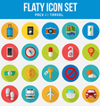 Flat icon set travel Pack vector image
