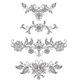 Floral page dividers and decorations vector image