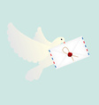 Pigeon with letter vector image