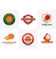 Set of vintage color basketball championship logos vector image