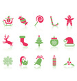 simple Christmas icons set vector image