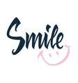 smile greeting card on white background vector image