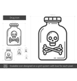 Drug line icon vector image