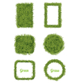 Green Grass Background and Frame Set vector image