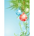 Christmas background with baubles vector vector image vector image