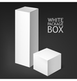 Set realistic white boxes vector image
