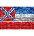 Flag of Mississippi on a brick wall vector image