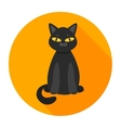black cat flat vector image