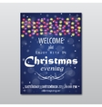Christmas evening poster vector image