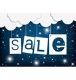 Colorful sale tags hanging vector image