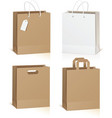 Empty shopping bag isolated on white background vector image