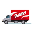 Fast delivery truck vector image