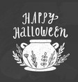 happy halloween chalk style vector image
