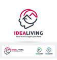 idea living logo vector image