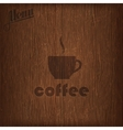 restaurant menu design with coffee cup on wood vector image