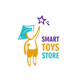Toy store logo template vector image