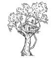 Treehouse vector image