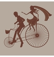 Wedding bicycle vector image