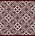 floral ornamental decoration pattern vector image vector image