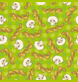 mushroom slices and pasta seamless pattern vector image