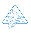 line style whale icon vector image