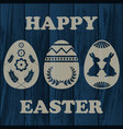 wooden easter background vector image
