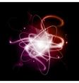 Energy stream against dark background vector image