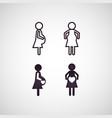 pregnant logo icon vector image