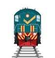 Diesel Locomotive vector image vector image