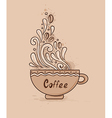 background with cup of coffee vector image
