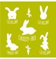 Stop cruelty eco-friendly badges vector image
