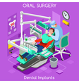 Dental Implants Isometric People vector image