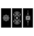 design for Tarot cards vector image