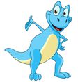 dinosaur presenting vector image