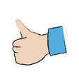 hand showing thumbs up gesture ok vector image