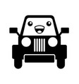 kawaii jeep car camping transport adventure vector image