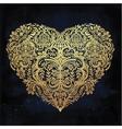 Lace heart art vector image