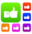 like set color collection vector image