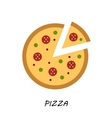 Pizza icon Minimal design Tasty pizza slices vector image