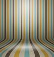 Vintage striped curved display background vector image