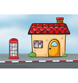 A house and callbox vector image