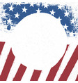 american flag patriotic background us flag with vector image
