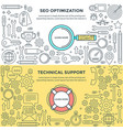 banners seo vector image