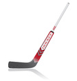 hockey stick for goalie vector image