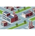 industrial district vector image