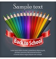 Pencil fan with ribbon text vector image