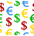 Dollar euro seamless pattern vector image